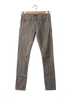 Jeans coupe slim gris APRIL 77 pour femme