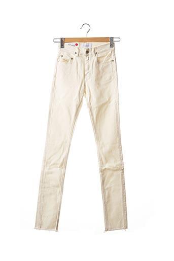 Jeans coupe slim beige APRIL 77 pour femme