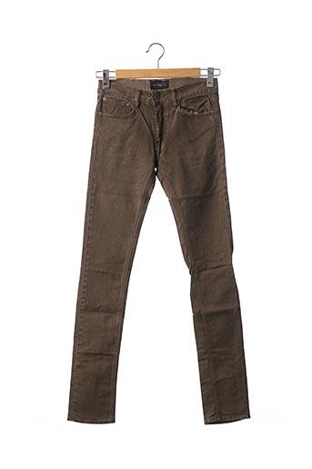 Jeans coupe slim marron APRIL 77 pour femme
