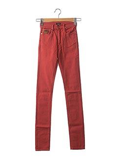 Jeans coupe slim orange APRIL 77 pour femme
