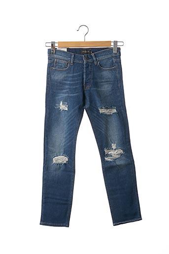 Jeans coupe droite bleu ELEVEN PARIS pour femme