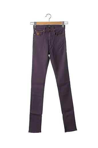 Jeans coupe slim violet APRIL 77 pour femme