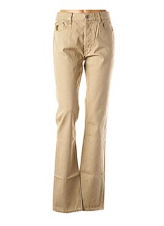 Jeans coupe droite beige APRIL 77 pour homme