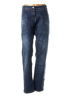 Jeans coupe droite bleu MISS CAPTAIN pour femme