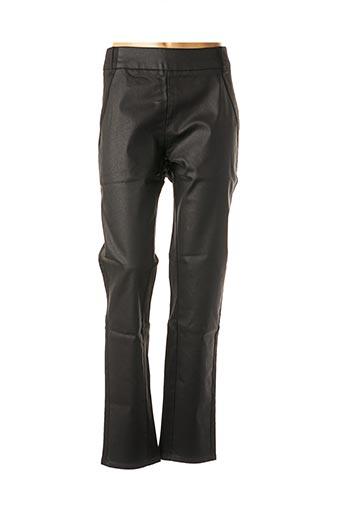 Pantalon casual noir MISS CAPTAIN pour femme