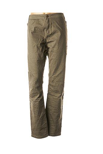 Pantalon casual vert MISS CAPTAIN pour femme