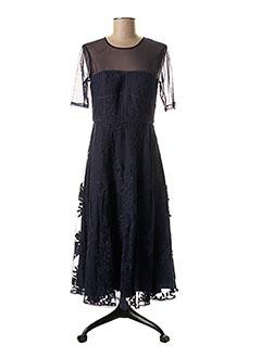 Robe mi-longue bleu 1 2 3 pour femme
