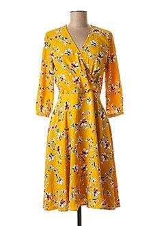 Robe mi-longue jaune 1 2 3 pour femme