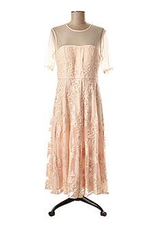 Robe mi-longue rose 1 2 3 pour femme