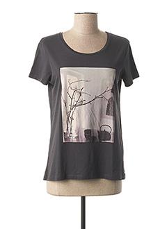 T-shirt manches courtes gris 1 2 3 pour femme