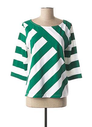 T-shirt manches longues vert MAISON 123 pour femme