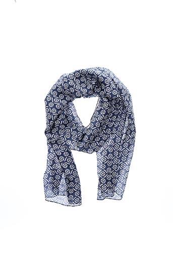 Foulard bleu 1 2 3 pour femme