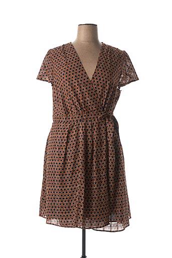 Robe courte marron MAISON 123 pour femme