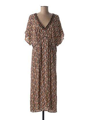 Robe mi-longue marron MAISON 123 pour femme