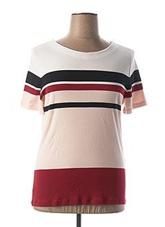 T-shirt manches courtes rose 1 2 3 pour femme