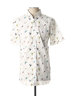 Chemise manches courtes blanc CAMBRIDGE pour homme
