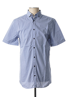 Chemise manches courtes bleu CAMBRIDGE pour homme