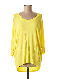 T-shirt manches longues jaune CREA CONCEPT pour femme