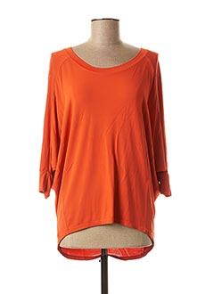 T-shirt manches longues orange CREA CONCEPT pour femme