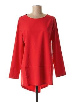 Tunique manches longues rouge KOKOMARINA pour femme