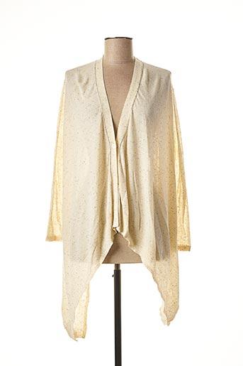 Gilet manches longues beige COLOUR 5 POWER pour femme
