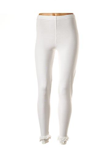 Legging blanc AUREA VITA pour femme