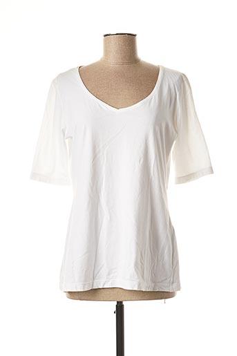 T-shirt manches courtes blanc ELEMENTE CLEMENTE pour femme