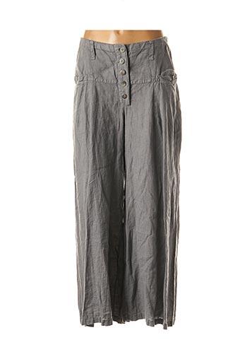 Pantalon casual gris AUREA VITA pour femme