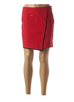 Jupe courte rouge MIA SOANA pour femme