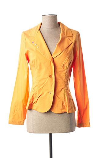 Veste chic / Blazer orange COCO MENTHE pour femme