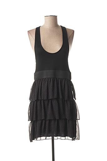Robe courte noir POUSSIERE D'ETOLE pour femme