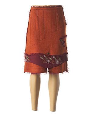 Jupe mi-longue orange ENJOY pour femme