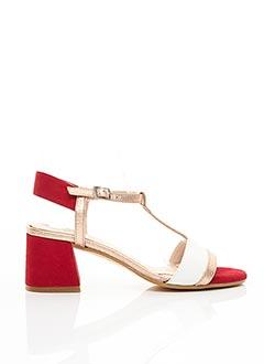 Sandales/Nu pieds rouge GADEA pour femme