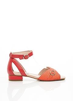 Sandales/Nu pieds rouge EMILIE KARSTON pour femme