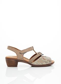 Sandales/Nu pieds beige ARA pour femme