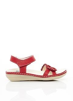 Sandales/Nu pieds rouge BRAKO pour femme
