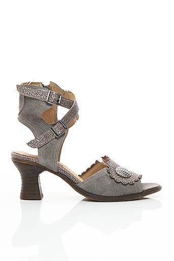 Sandales/Nu pieds gris CASTA pour femme