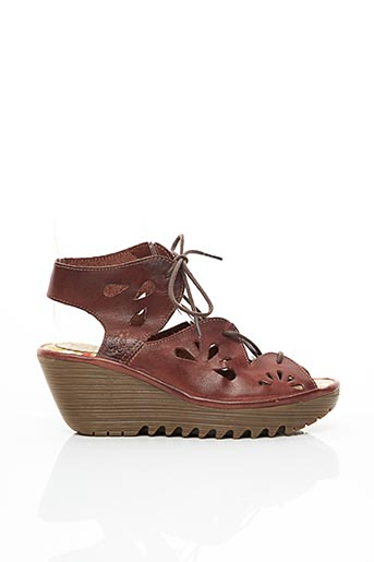Sandales/Nu pieds marron FLY LONDON pour femme