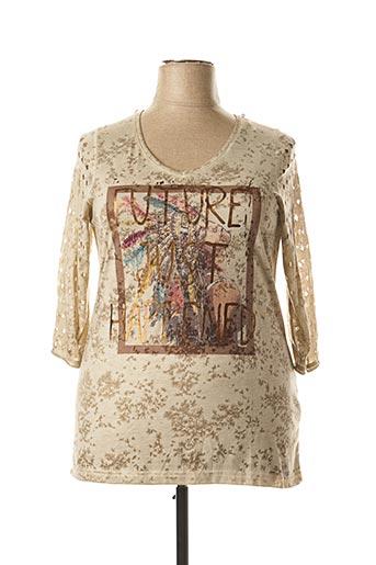 T-shirt manches longues beige APRICO pour femme