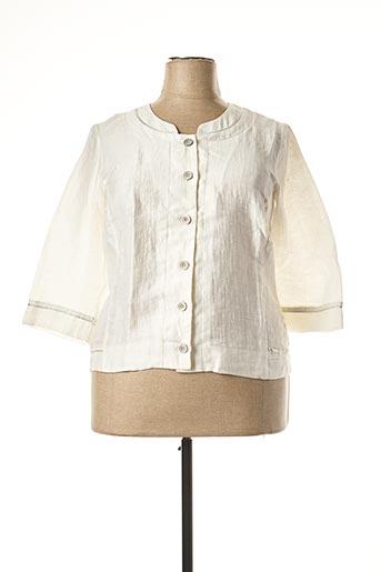 Veste casual blanc DIANE LAURY pour femme