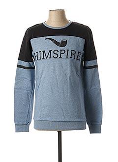 Sweat-shirt bleu HIMSPIRE pour homme