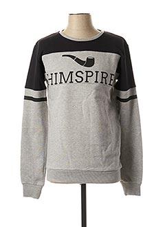 Sweat-shirt gris HIMSPIRE pour homme