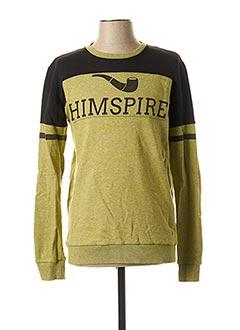 Sweat-shirt jaune HIMSPIRE pour homme