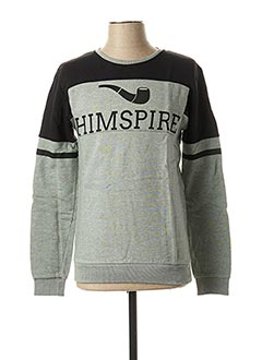 Sweat-shirt vert HIMSPIRE pour homme