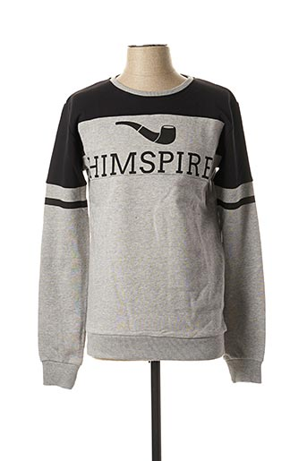Sweat-shirt gris HIMSPIRE pour homme