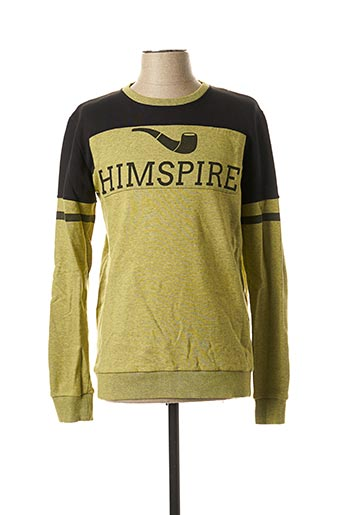 Sweat-shirt jaune HIMSPIRE pour homme