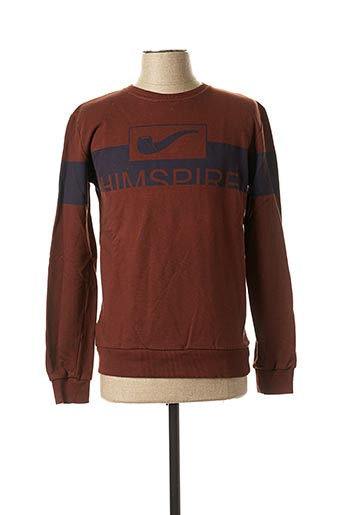 Sweat-shirt marron HIMSPIRE pour homme