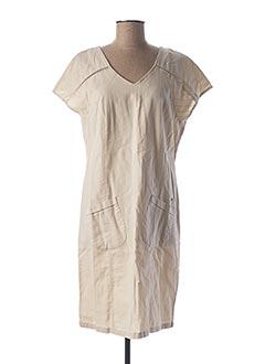 Robe mi-longue beige THALASSA pour femme