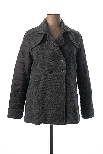Manteau court gris HUBLOT pour femme