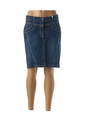 Jupe mi-longue bleu CMK pour femme